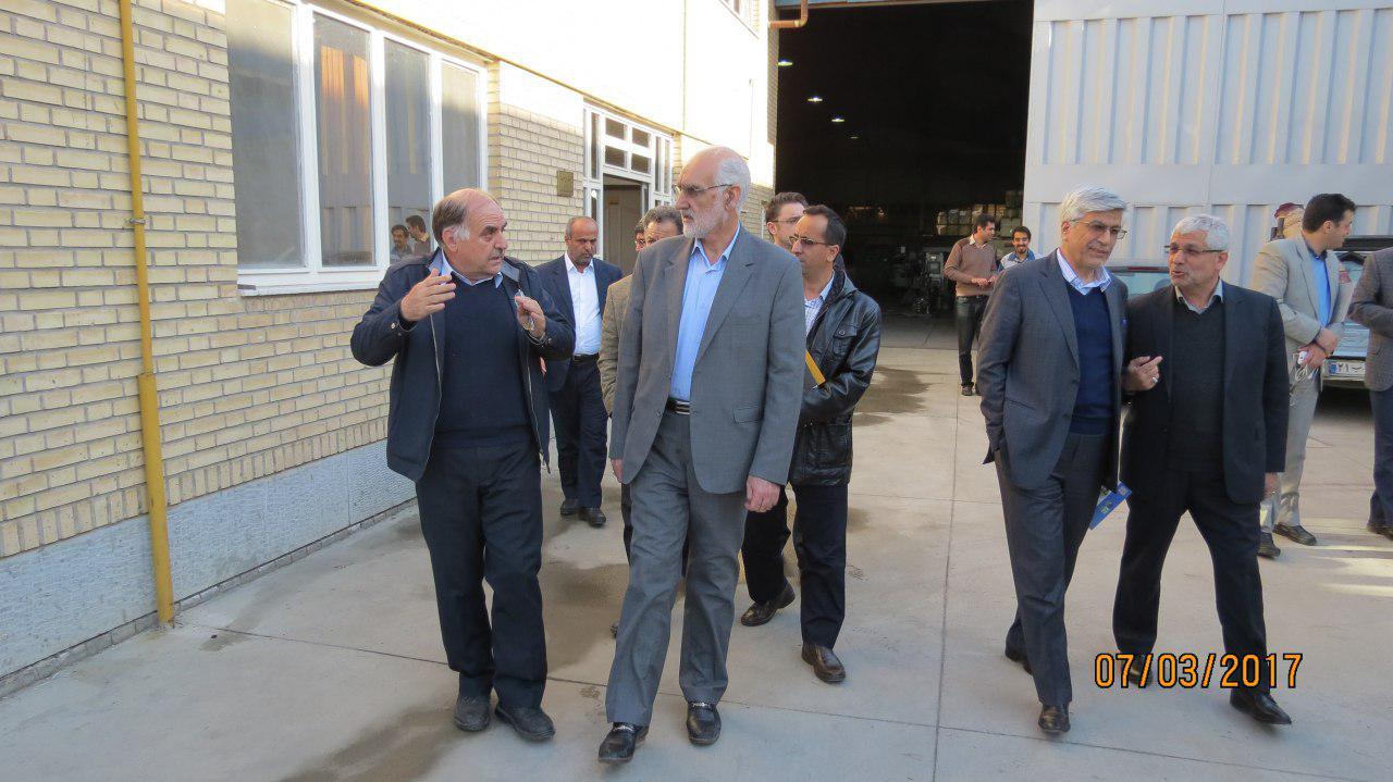 بازدید فرماندار محترم مشهد از شرکت رای صنعت توس