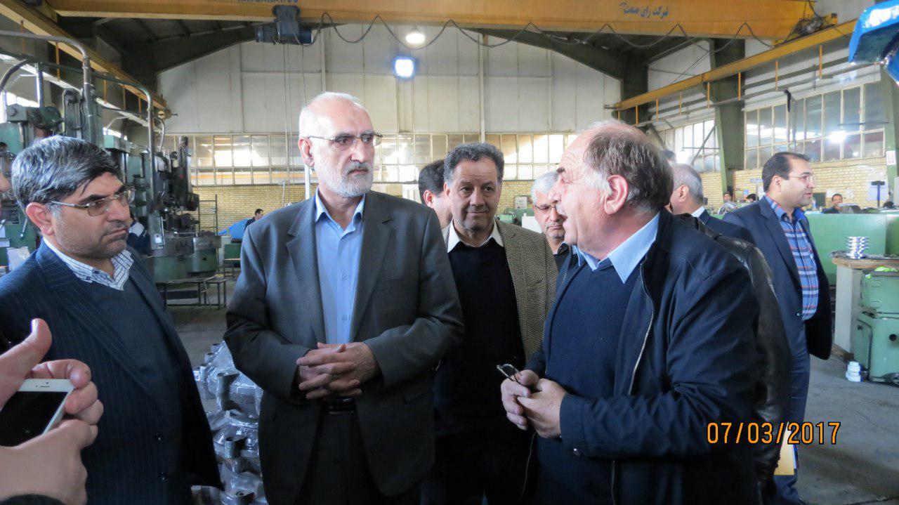 بازدید فرماندار محترم مشهد از مجموعه رای صنعت توس